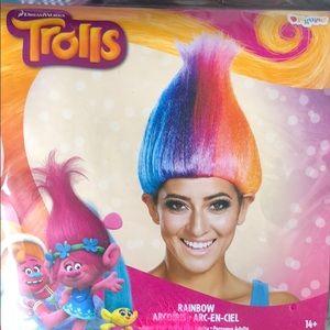 New in package Trolls rainbow wig